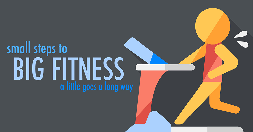 Small steps to big fitness: A little goes a long way
