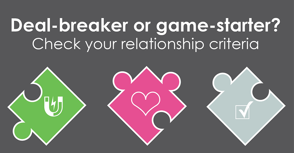 Deal-breaker or game-starter?: Check your relationship criteria