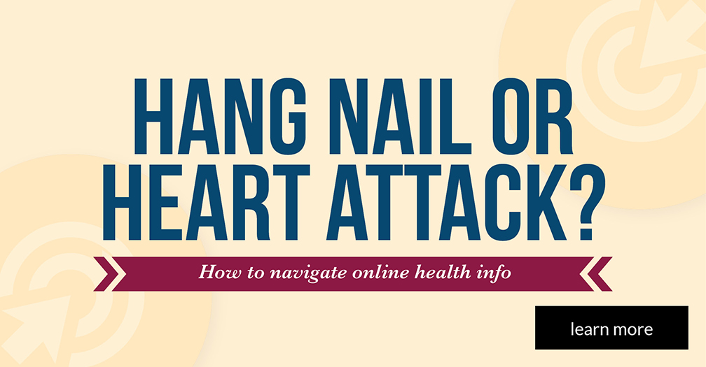 Hangnail or heart attack?: How to make sense of your symptoms online