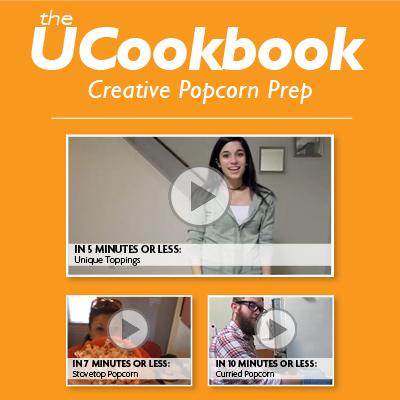 UCookbook: Creative Popcorn Prep