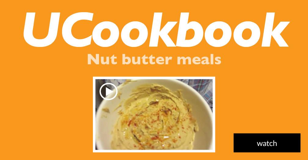 UCookbook: Nut butter meals