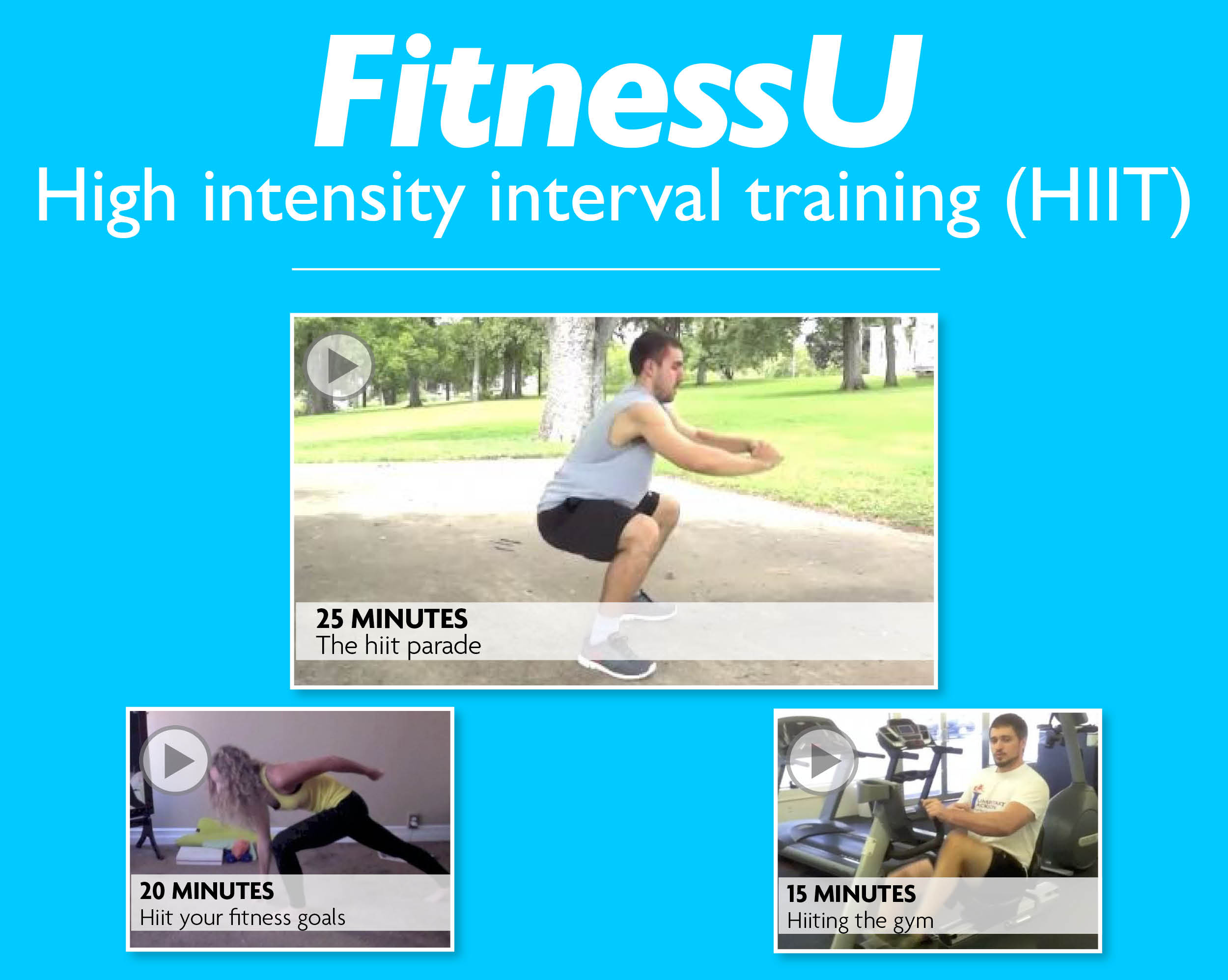 FitnessU: High intensity interval training (HIIT)