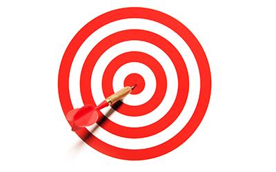 Dart in the bullseye