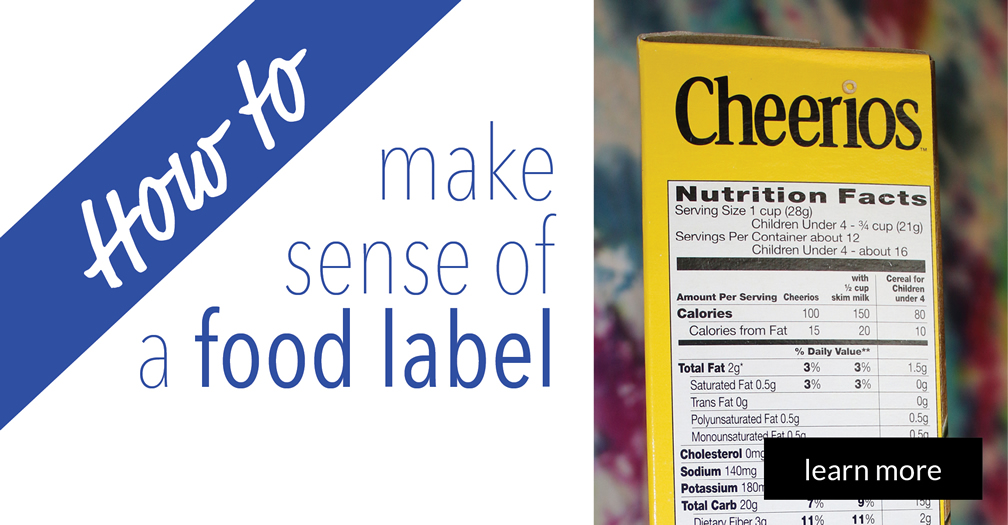 How to make sense of a food label